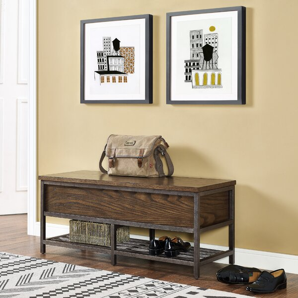 Perkins Wood Storage Bench by 17 Stories