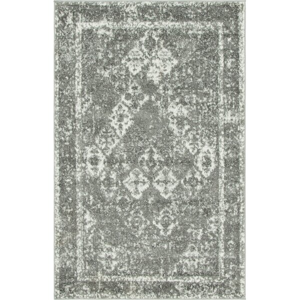 Hartell Gray Area Rug by Bungalow Rose