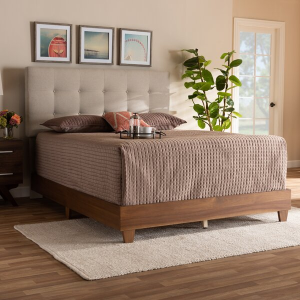 Johanson Mid-Century Modern Upholstered Standard Bed by George Oliver
