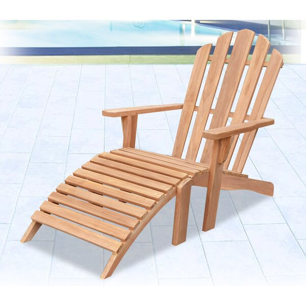 Brenner Teak Adirondack Chair by Highland Dunes