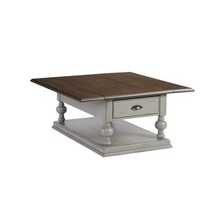 Serpentaire Castered Drop Leaf Coffee Table With Magazine Rack