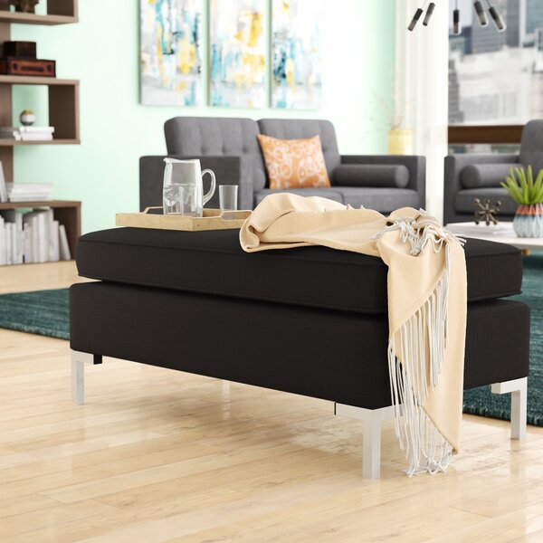 Yousif Polyester Upholstered Metal Bench by Wade Logan