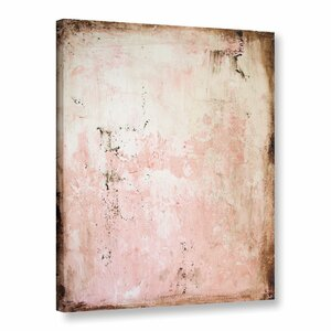 'Worn Abstract I' Watercolor Painting Print on Canvas by Latitude Run