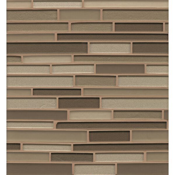 Remy Glass 12 x 13 Mosaic Random Interlocking Blends Tile in Rockford by Grayson Martin