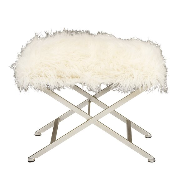 Metal Fur Stool by Cole & Grey