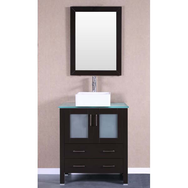 Modena 30 Single Bathroom Vanity Set with Mirror by Bosconi