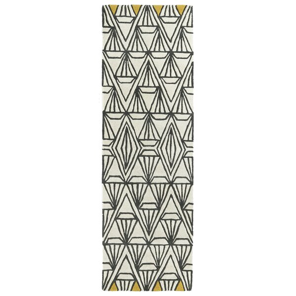 Ronnie Hand-Tufted Ivory Area Rug by Wrought Studio