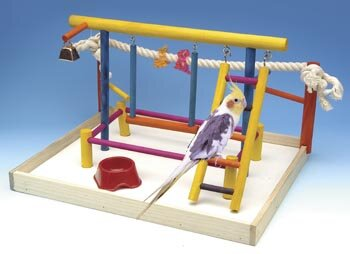 Extra Large Wooden Playground Bird Activity Center by Penn Plax