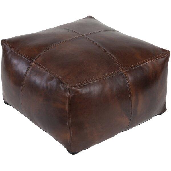 Lottie Leather Pouf by Trent Austin Design