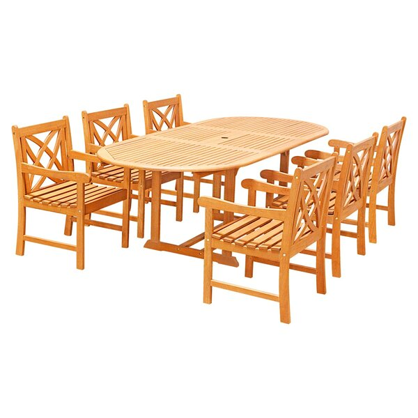 Lochmoor 7 Piece Dining Set by Rosecliff Heights