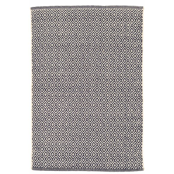 Lattice Cotton Indigo Area Rug by Dash and Albert Rugs