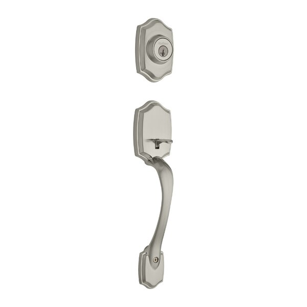 Belleview Double Cylinder Entrance Handleset, Exterior Handle Only by Kwikset