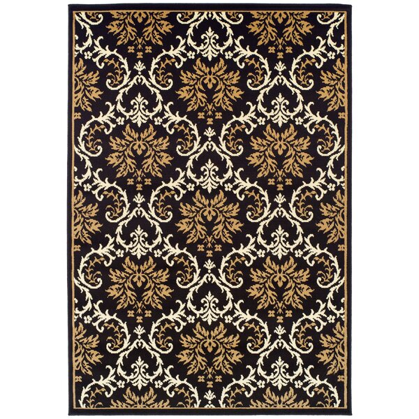 Banning Black Indoor/Outdoor Area Rug by Fleur De Lis Living