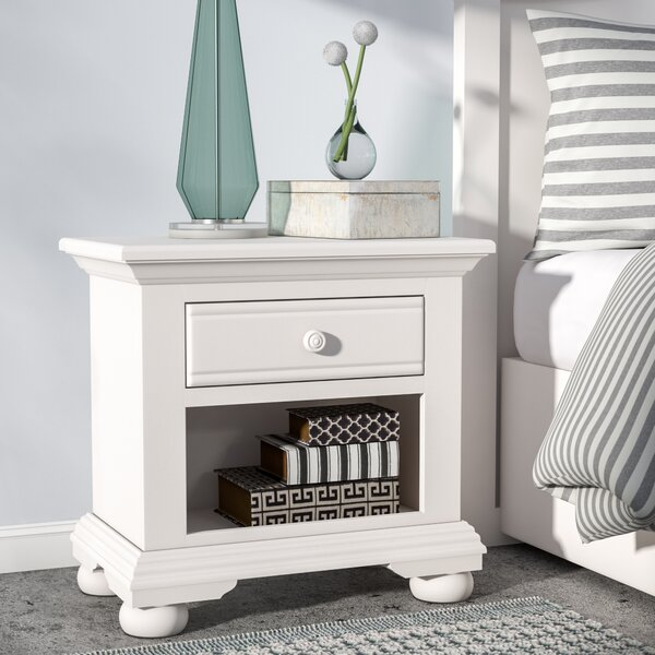Morpeth 1 Drawer Nightstand by Three Posts