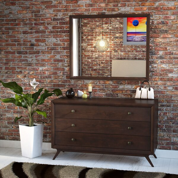 Modesto 3 Drawer Dresser with Mirror by Langley Street