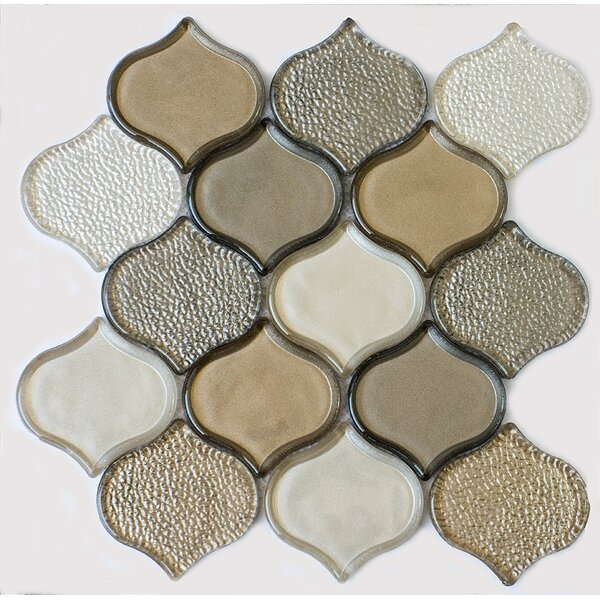 Peach Glass Mosaic Tile in Champagne by Byzantin Mosaic