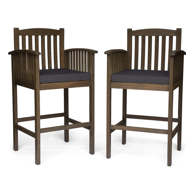 """Leber 30"""" Patio Bar Stool (Set of 2) by Millwood Pines"""