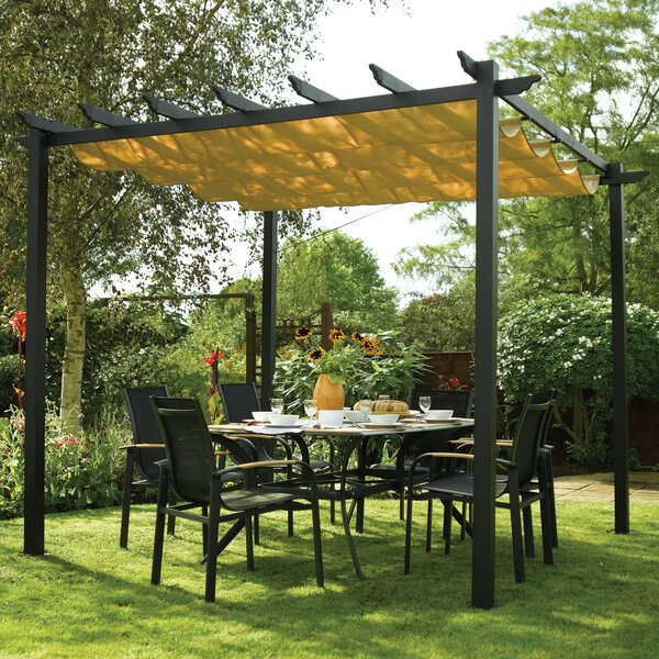 Latina 10 Ft. W x 10 Ft. D Metal Pergola by Rowlinson