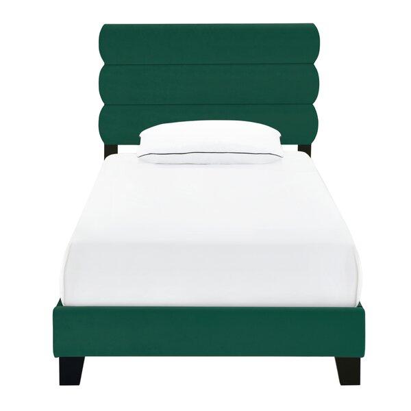 Romola One Box Slat Upholstered Standard Bed by Mercer41