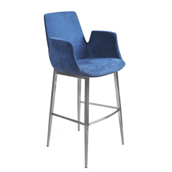Pranav 44.89 Bar Stool by Orren Ellis