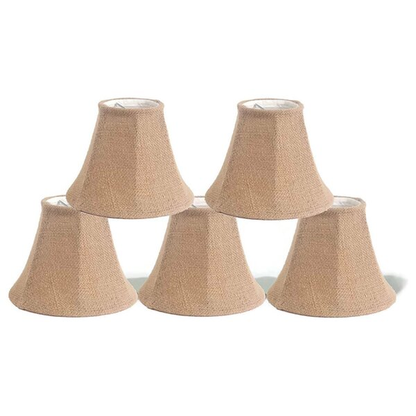 Burlap Bell Candelabra Shade ( Clip On ) (Set of 5)