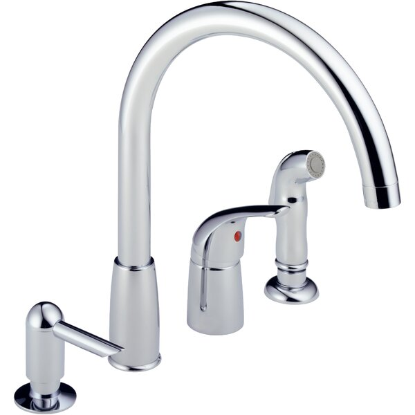 Single Handle Kitchen Faucet with Soap Dispenser by Peerless Faucets