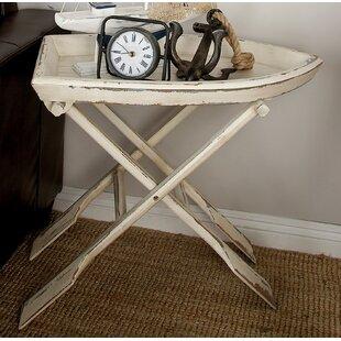 Where buy  Sheffield Wood Tray Table ByBreakwater Bay