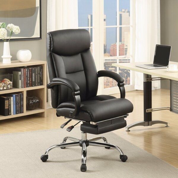 Calarco High-Back Leather Executive Chair by Ebern Designs