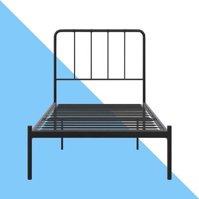 Mystic Platform Bed Hashtag Home Color: Black, Size: Twin