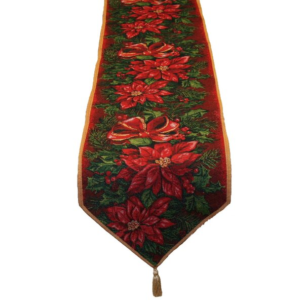 Seasonal Poinsettia Table Runner by The Holiday Ai
