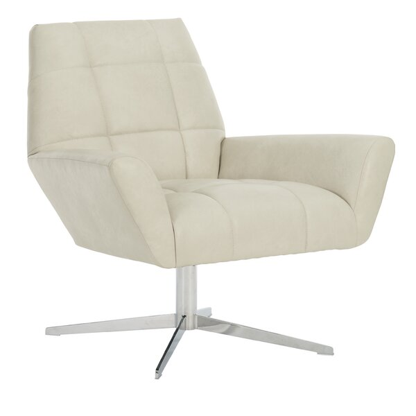 D'Angelo Leather Swivel Lounge Chair By Bernhardt