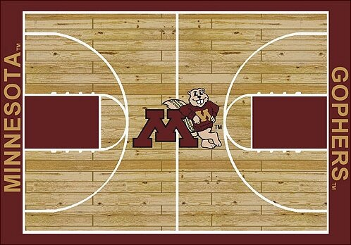 NCAA College Home Court Minnesota Novelty Rug by My Team by Milliken