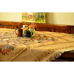 Colorful Country Rustic Floral Morning Awakening Woven Tapestry Tablecloth