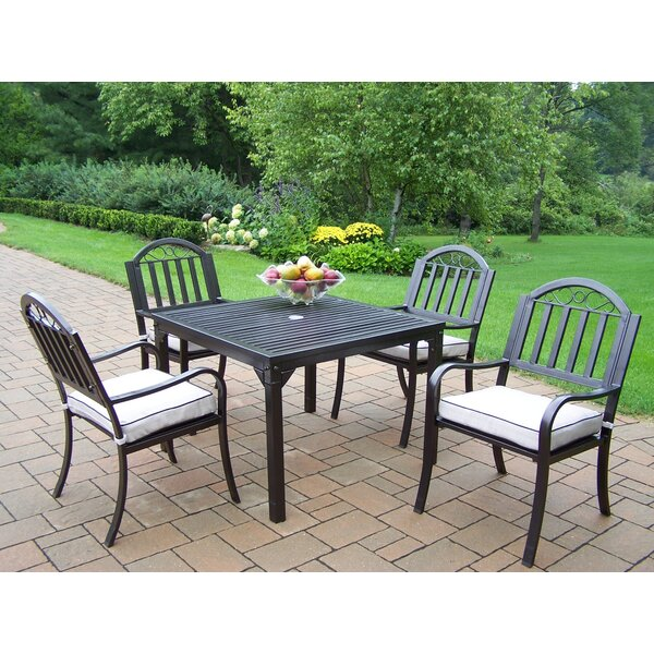 Lisabeth Traditional Dining Set with Cushions by Red Barrel Studio