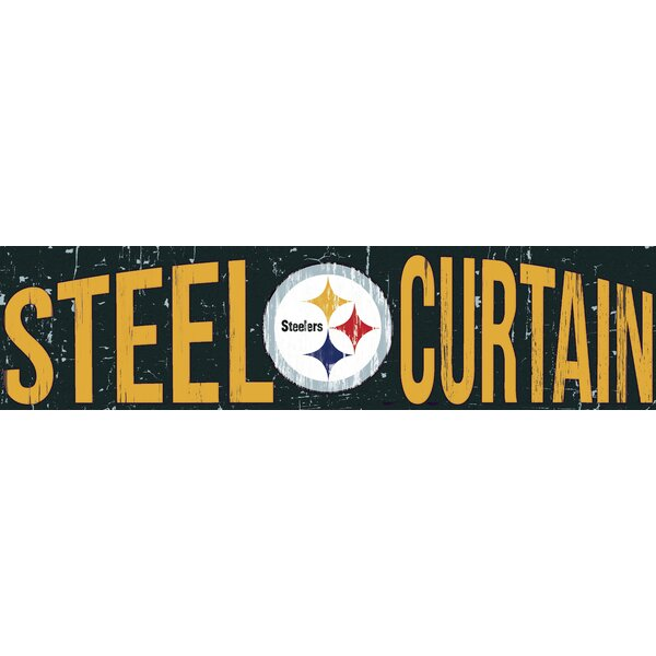 NFL Slogan Graphic Art Plaque by Fan Creations
