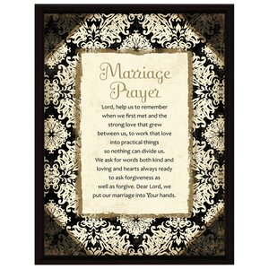 Simple Expressions Marriage Prayer Framed Textual Art by Dexsa