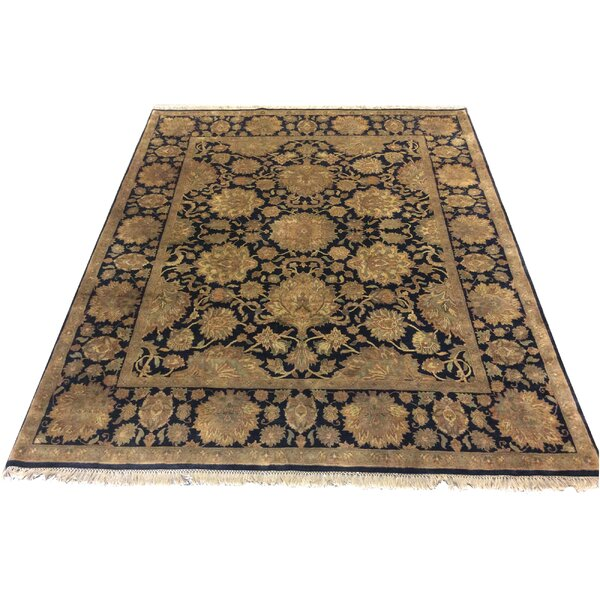 One-of-a-Kind Lybarger Hand-Knotted Wool Black/Beige Area Rug by Astoria Grand