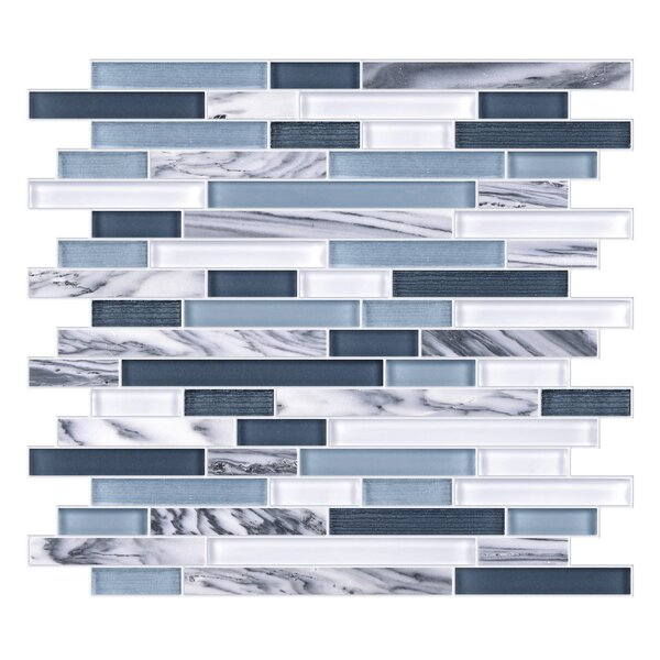 Modern Sleek Mixed Tile in Black/Gray/White by Byzantin Mosaic