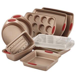 Cucina 10 Piece Nonstick Bakeware Set  sc 1 st  Wayfair & Temptations Bakeware Sets | Wayfair