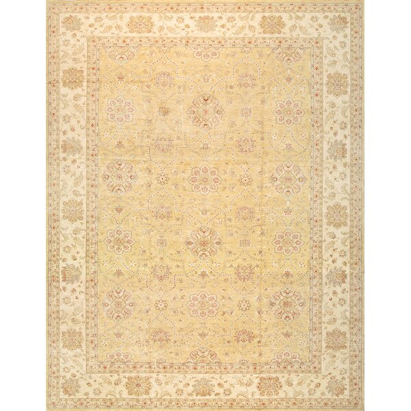 Ferehan Hand-Knotted Light Gold Area Rug by Pasargad