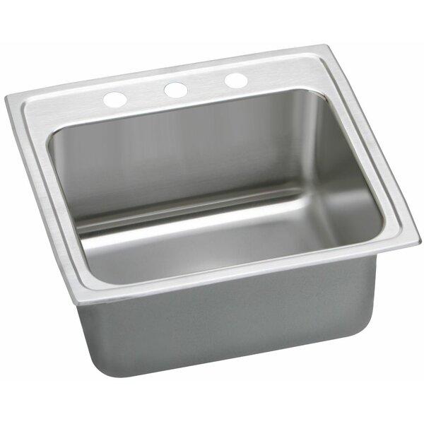 Lustertone 25 L x 21 W Drop-In Kitchen Sink by Elkay