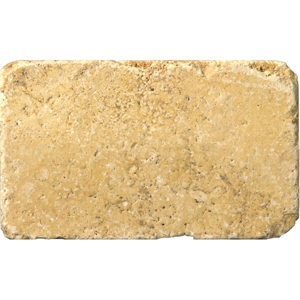 Natural Stone 3 x 6 Travertine Subway Tile in Gold by Emser Tile