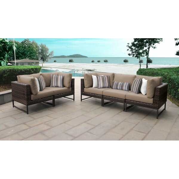 Mcclurg Patio Sofa with Cushions by Darby Home Co