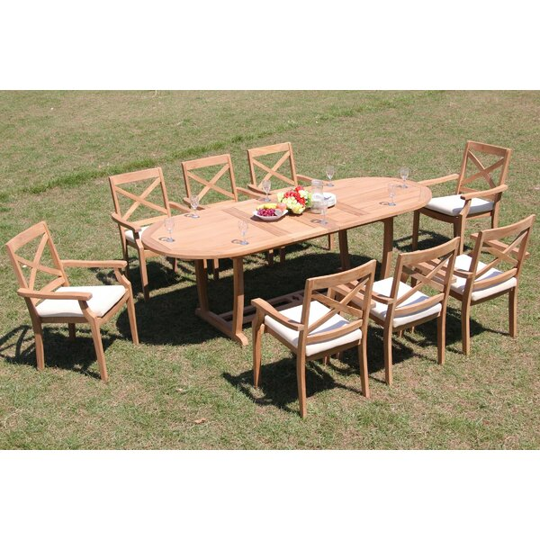 Himmelmann 9 Piece Teak Dining Set by Rosecliff Heights Rosecliff Heights