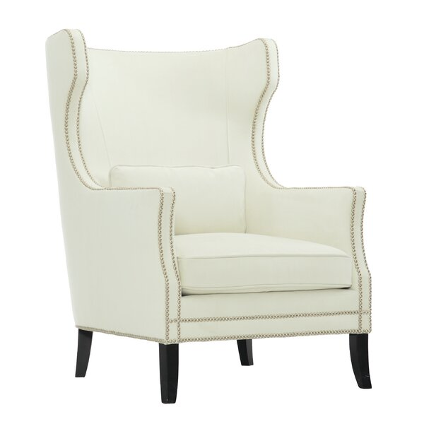 Kingston Leather Wingback Chair by Bernhardt Bernhardt