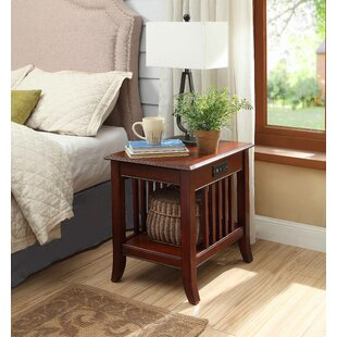 Great Price Quebec Nightstand with Charging Station By Charlton Home