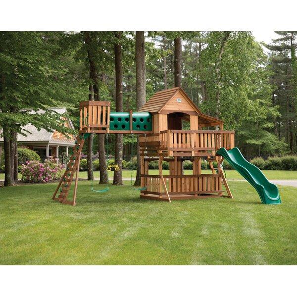 Woodridge Elite All Cedar Wooden Swing Set by Backyard Discovery