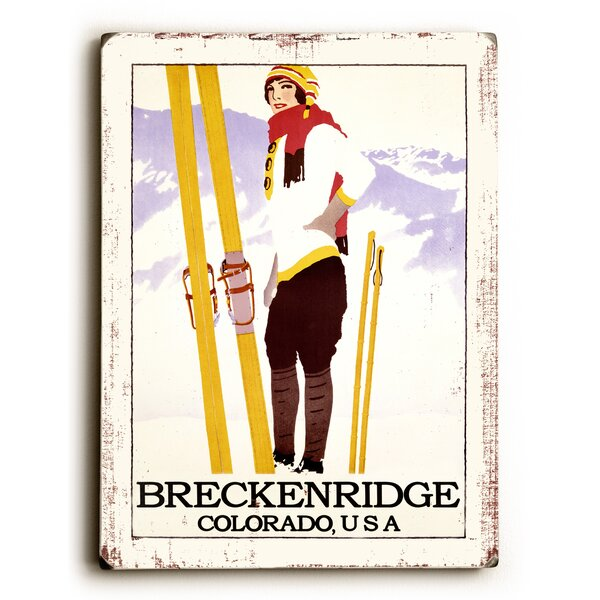 Vintage Women Skiier Vintage Advertisement by Artehouse LLC