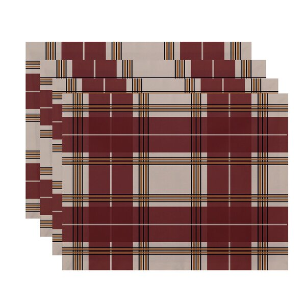Abbot Plaid Geometric Placemat (Set of 4) by Charlton Home