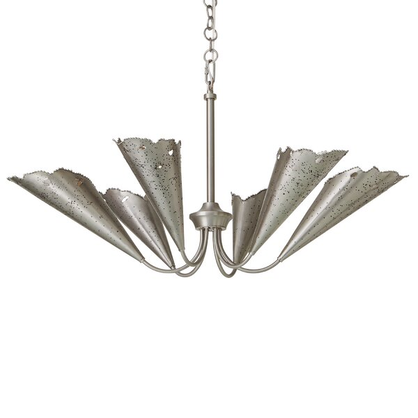 Melting 6-Light Shaded Classic / Traditional Chandelier by Studio A Home Studio A Home